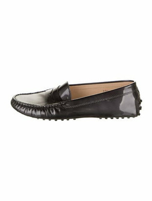 Tod's Leather Loafers Grey