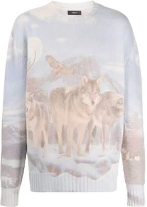 Amiri Wolf print jumper