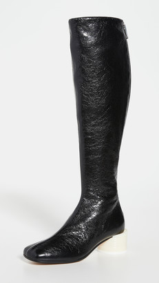 MM6 MAISON MARGIELA Tin Can Heel Tall Boots
