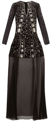 Givenchy Crystal-embellished Wool-crepe Gown - Womens - Black Multi