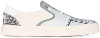Amiri Bandana Print Slip-On Sneakers