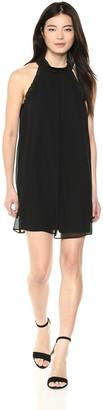 BCBGeneration Women's Ruffle Trimmed A-LINE Dress