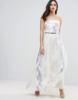 Little Mistress Organza Embroidered Maxi Dress