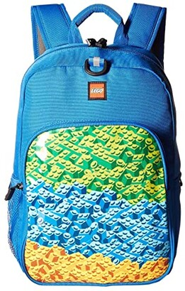 Lego Brick Waterfall Heritage Classic Backpack (Blue) Backpack Bags