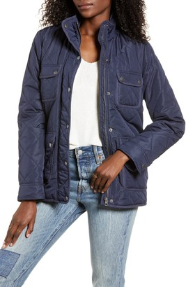 Thread and Supply Fleece Lined Quilted Utility Jacket