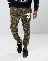 AAPE BY A BATHING APE AAPE By A Bathing Ape Joggers With AAPE Badge Print in Camo