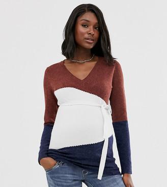 Mama Licious Mamalicious paneled sweater