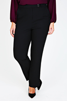 Yours Clothing Black Classic Straight Leg Trousers With Pockets