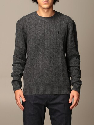 Polo Ralph Lauren Pullover In Cable-knit Wool And Cashmere