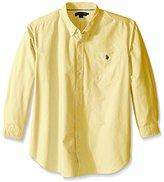 U.S. Polo Assn. Men's Long Sleeve Solid Oxford Shirt