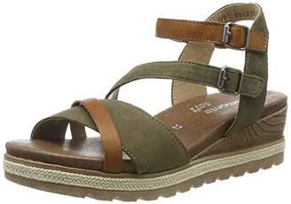 Remonte Women's D6356 Sling Back Sandals, Green (Cayenne/Olive 54)
