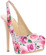 Cavallini Erika Semi Couture floral pump