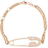 Jacob & co 18K Diamond Safety Pin Bracelet