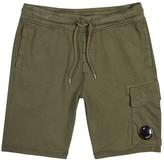 C.P. Company Olive Jersey Cargo Shorts