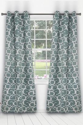 Duck River Textile Rhys Blackout Grommet Panel Curtains - Set of 2 - Dusty Teal