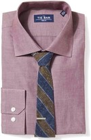 The Tie Bar Burgundy Polished Chambray Shirt