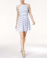 Maison Jules Kimberly Striped Fit & Flare Dress, Only at Macy's