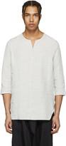 Attachment Grey Oversized Linen Shirt