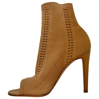 Gianvito Rossi Beige Cloth Ankle boots