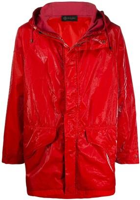 Mr & Mrs Italy textured contrast panel raincoat