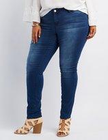 Charlotte Russe Plus Size Medium Wash Skinny Jeans