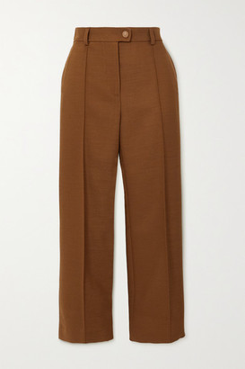 See by Chloe Cropped Twill Straight-leg Pants - Camel
