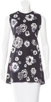 MSGM Floral Print Sleeveless Tunic