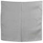 Forzieri Grey Silk Pocket Square