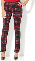 New York & Co. 7th Avenue Design Studio Pant - Runway - Slimmest Fit - Slim Leg - Plaid Print