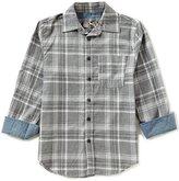 First Wave Little Boys 2T-7 Button-Down Long-Sleeve Plaid Shirt