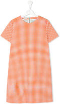 Marni grid print T-shirt dress - kids - Cotton - 14 yrs