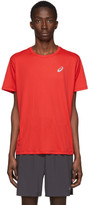 Asics Red and Silver Logo T-Shirt