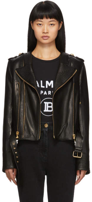 1328a742d Black Leather Biker Jacket