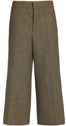 Marni Cropped Linen-Blend Wide-Leg Pants