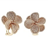 Effy Jewelry Effy 14K Rose Gold Diamond Flower Earrings, 2.17 TCW