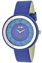 Crayo Celebration Collection CRACR3406 Unisex Watch with Leather Strap