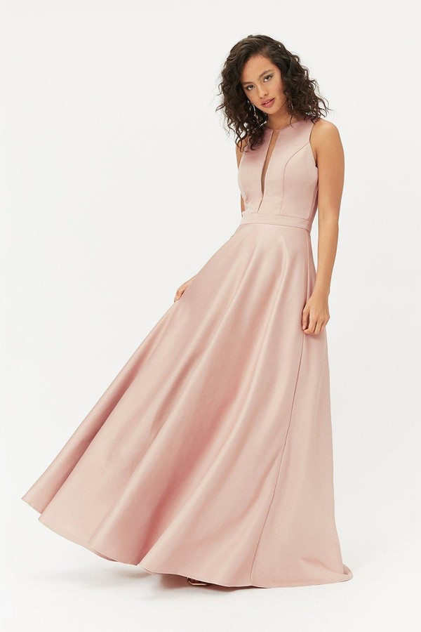 Coast Satin Tulle Underskirt Maxi Dress