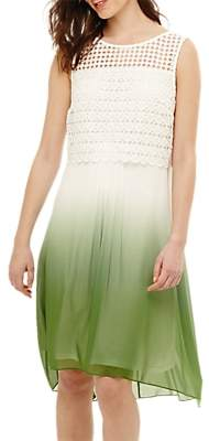Phase Eight Dorothy Dip Dye Dress, Green/Ivory