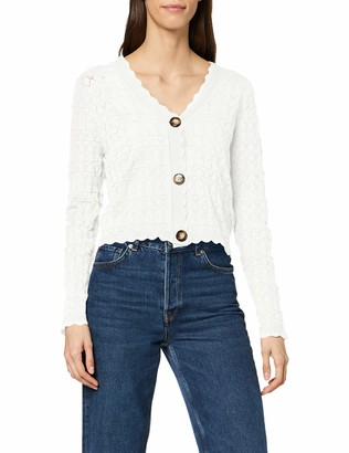 Yumi Women's Pointelle Stitch With Over Size Cardigan Sweater