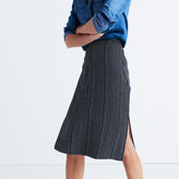 Madewell Striped Side-Slit Midi Skirt