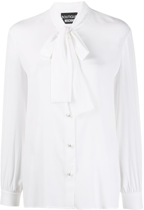 Boutique Moschino Pussy-Bow Shirt