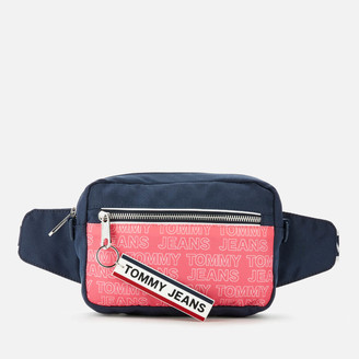 Tommy Jeans Women's Logo Tape Convertible Cross Body Bag - Glamour Pink