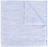 Corneliani striped scarf - men - Silk/Linen/Flax - One Size
