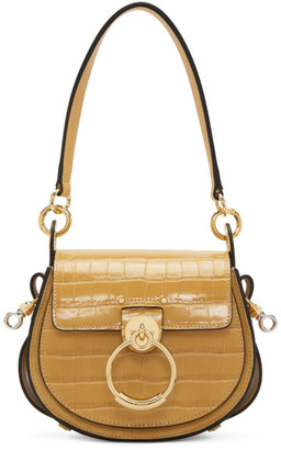 Chloé Yellow Croc Small Tess Bag