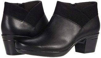 Clarks Emslie Essex (Black Leather/Textile Combinat) Women's Boots