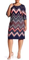 Sandra Darren Printed Jersey Dress (Plus Size)