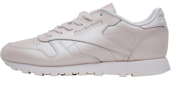 Classics Womens Leather Trainers Mid Pale Pink