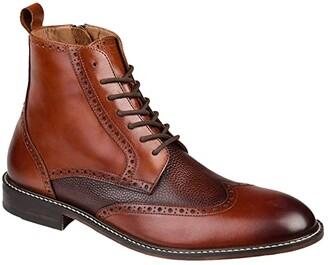 Thomas & Vine Legend Wing Tip Ankle Boot (Brown) Men's Shoes