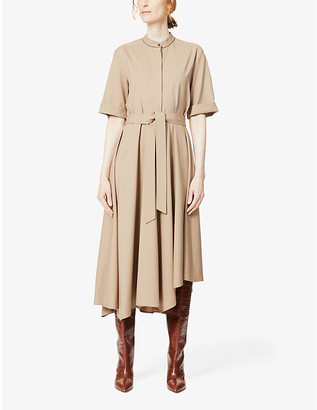 Brunello Cucinelli Bead-embellished wool midi dress