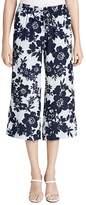 Calvin Klein Floral-Print Cropped Pants